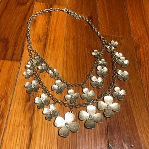 Francesca Two Layer Flower Statement Necklace